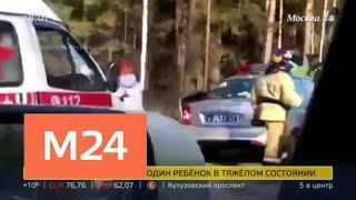 Смотреть видео Следствие предположило, что виновником ДТП с участием детей стал водитель легковушки - Москва 24 онлайн