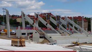 Allianz Stadion: Blick auf die Baustelle Mitte Juli 2015 I