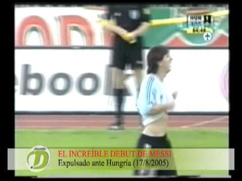 Messi cumple diez años de su debut en la Selección mayor