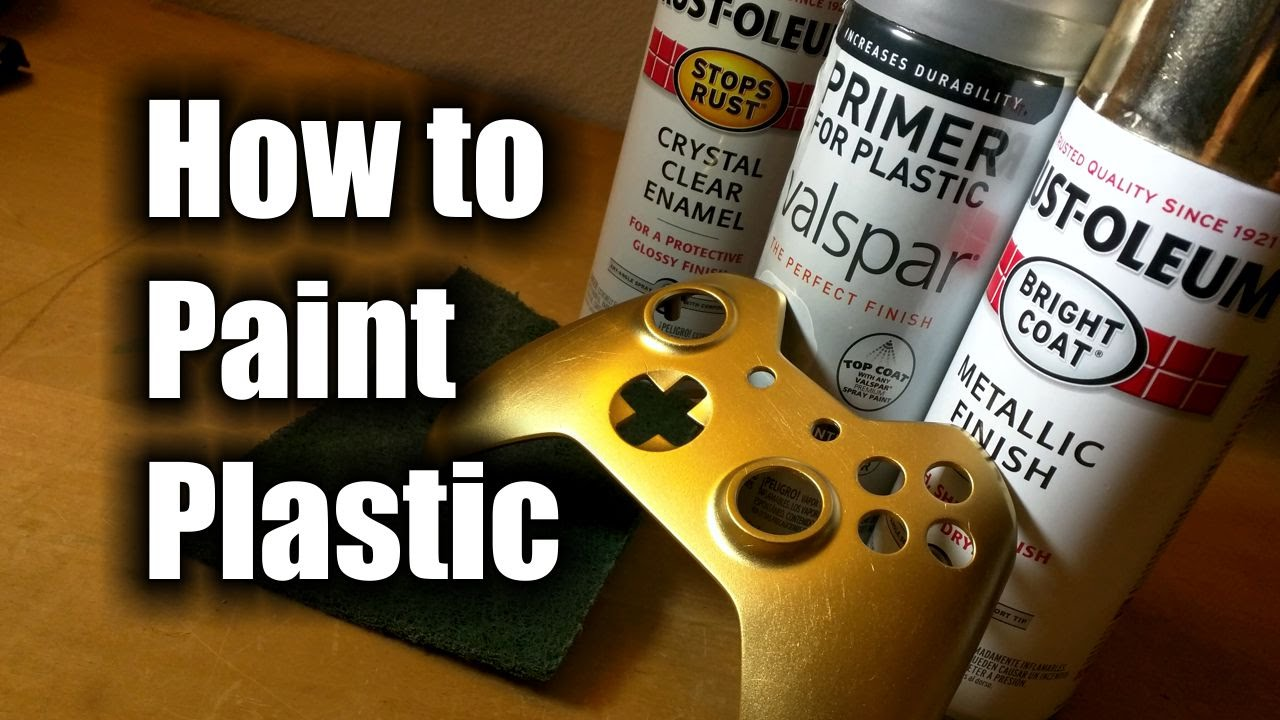 how to paint plastic hd the basics youtube