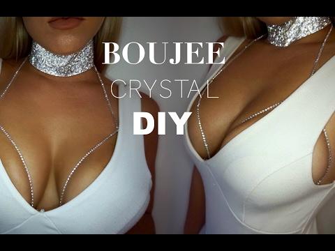 DIY Crystal Bra & Choker |  BOUJEE INSTA TRENDS