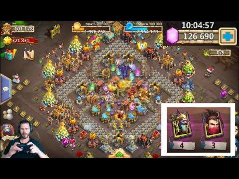 Rolling 120,000 GEMS For GunSlinger SCARY Session Castle Clash