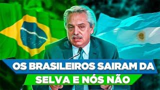 "Presidente argentino DIMINUI O BRASIL: ""brasileiros saíram da selva"" (Felipe Dideus)"