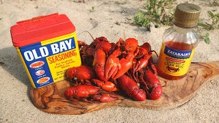 Catch n' Cook SPICY Crawfish on the Riverside!