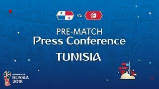 fifa world cup 2018 pan vs tun  tunisia - pre-match press conference