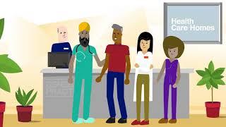 Gesundheit Pflegeheime Animation