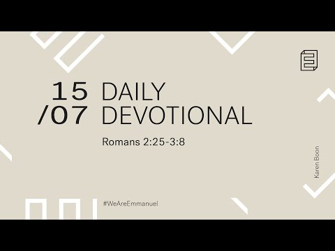 Daily Devotional with Karen Boon // 2:25-3:8 Cover Image