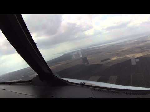 A320 Circle to Land RWY 04 - Burgas Int'l Airport, Bulgaria. Cockpit View