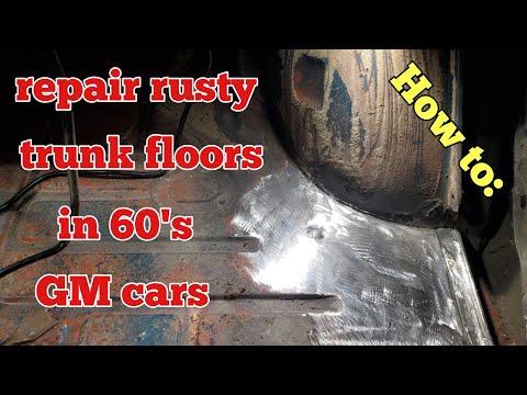 How to repair rusty trunk floors in 60s GM cars
