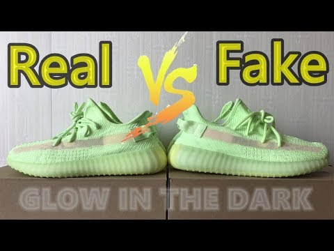 Real VS Fake】 Yeezy 350 V2 GID Glow in