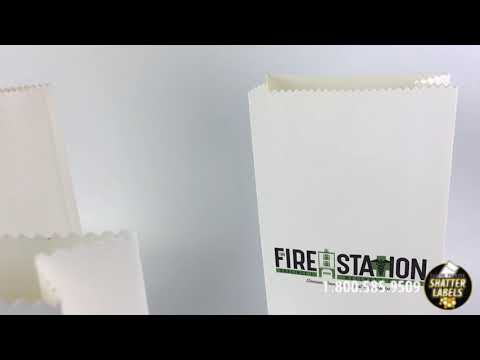 Custom Printed Pharmacy Bags for Fire Station by Shatter Labels, #1 Cannabis Packaging Co