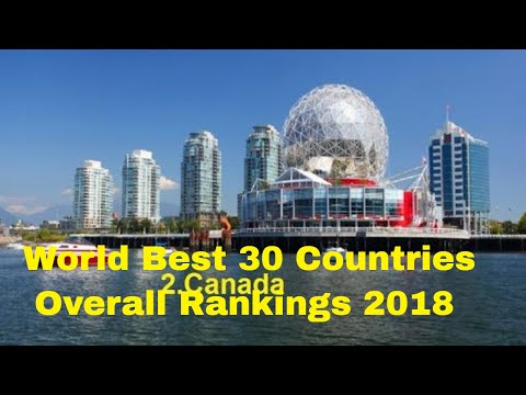 Top-Rated World Best  Countries Overall Rankings  2018! Top 30 Countries  Overall Rankings 2018 #30