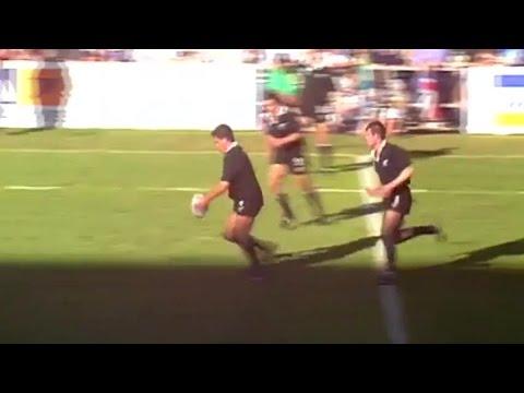 Zinzan Brooke recreates his legendary drop goal