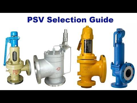 PSV Pressure Safety Valve Selection Guide
