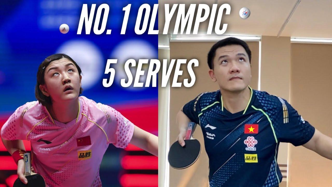 5 Serves of World No. 1 Chen Meng | Table Tennis Tutorial