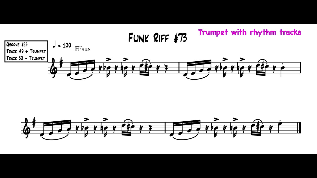 Ultimate Funk Grooves for Trumpet music educational book