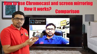 Hindi    How to use Chromecast and screen mirroring   How it works   Comparison