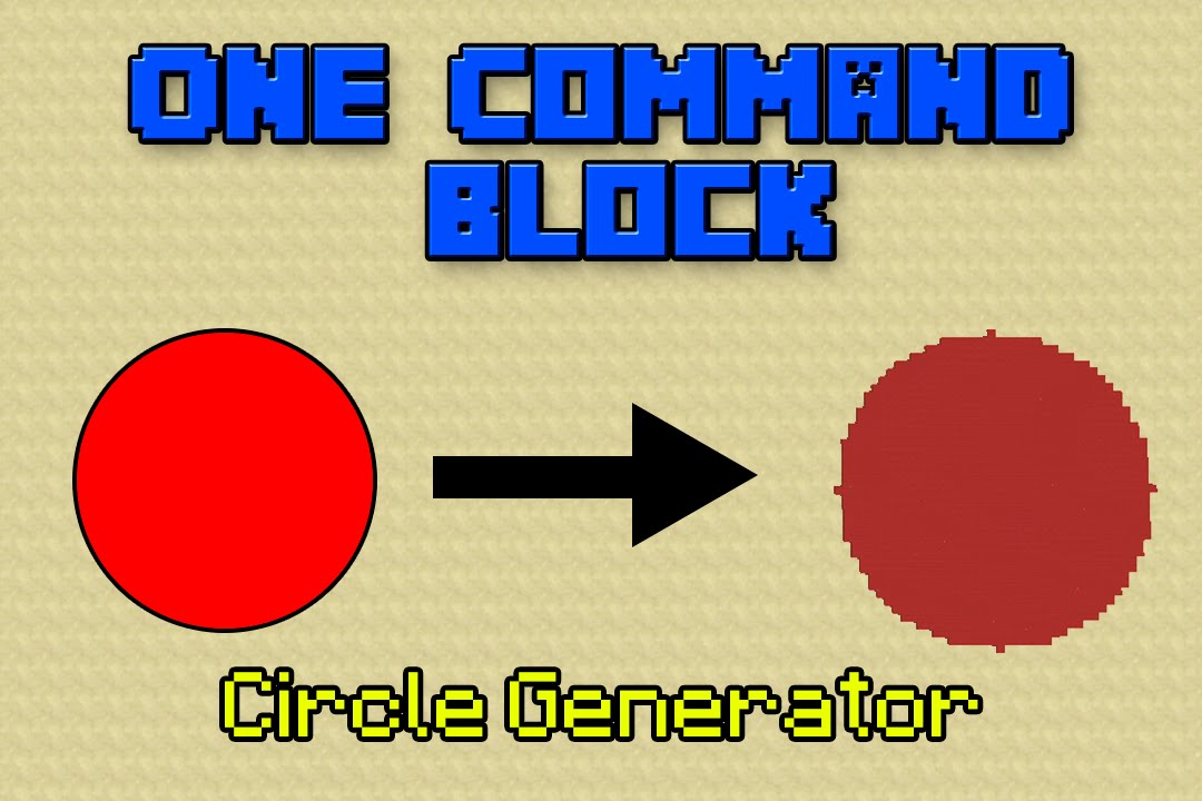Circle Generators in Minecraft One Command Block