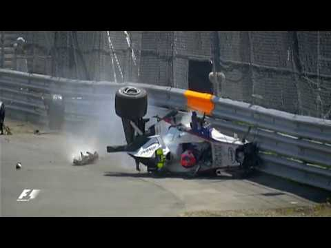 robert kubica 39 s huge crash 2007 canadian grand prix youtube. Black Bedroom Furniture Sets. Home Design Ideas