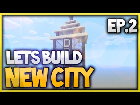 Minecraft Xbox One New City Lets Build - Skyscraper Roofing (Episode 2)