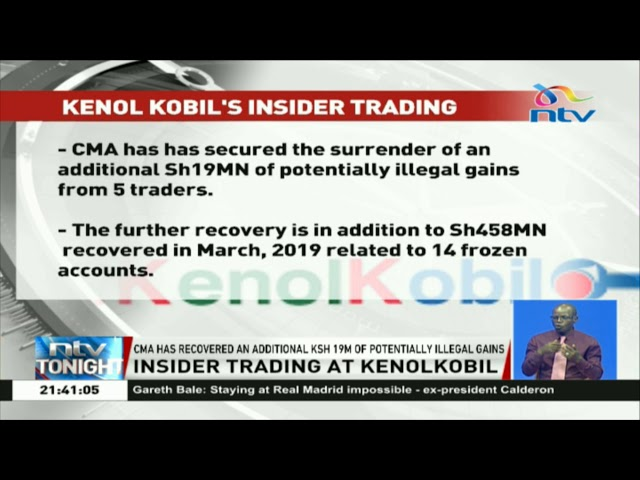 CMA recovers an additional KSH 19 million of potential illegal gains in Kenol-Kobil