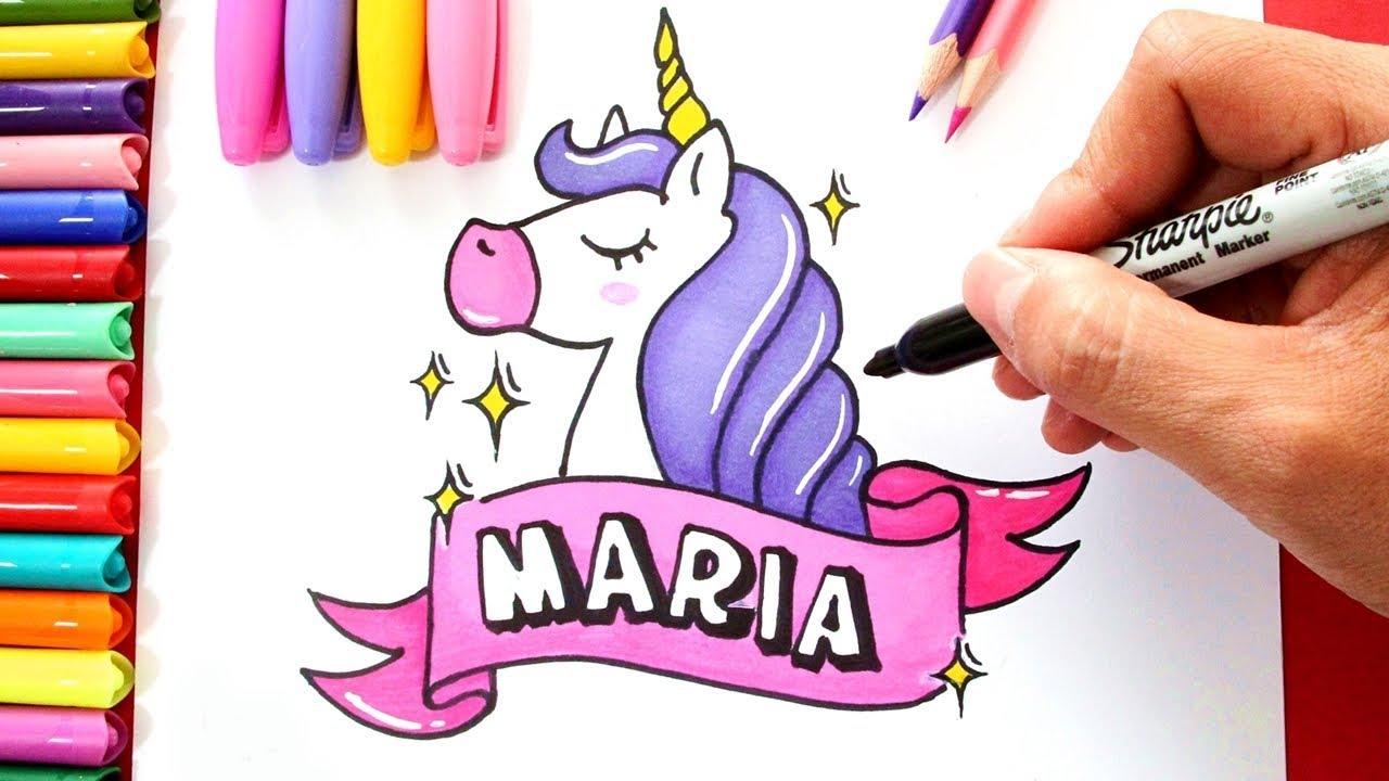 Libreta De Dibujo Mandala Unicornio Papel Blanco: Dibujos De Unicornios Para Colorear
