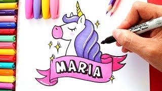 Dibujar Unicornio Facil