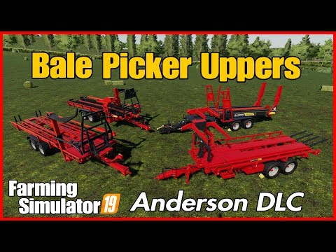 Anderson Dlc Farm Sim Fs19 How To Pick Up Bales Using Anderson Equipment PS4 Xbox