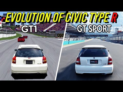 Evolution of Civic Type R in Gran Turismo