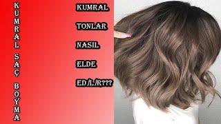 Evde saç boyası nasıl hazırlanır/ saçlarım nasıl kumral olur/8.0 kumral  renk