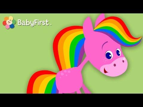 BabyFirst: El Caballo Arco Iris - Especial para niños de 30 minutos  | Color y Música
