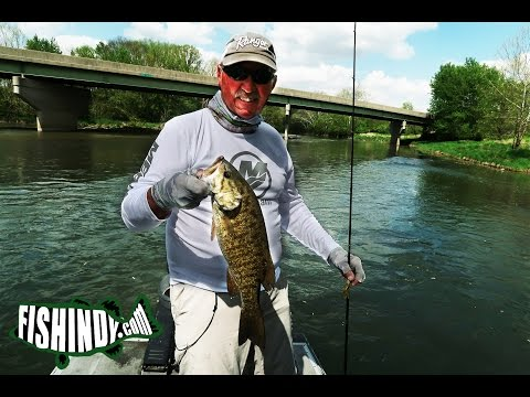 Spring Smallmouth Fishing On The White River, Indiana. With Terry McWilliams