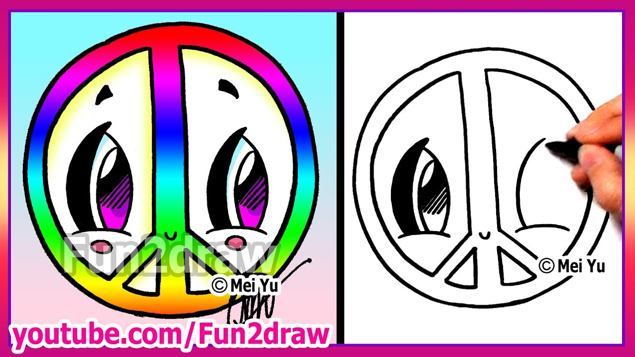 Rainbow peace sign how to draw easy cartoons fun2draw drawings rainbow peace sign how to draw easy cartoons fun2draw drawings youtube biocorpaavc