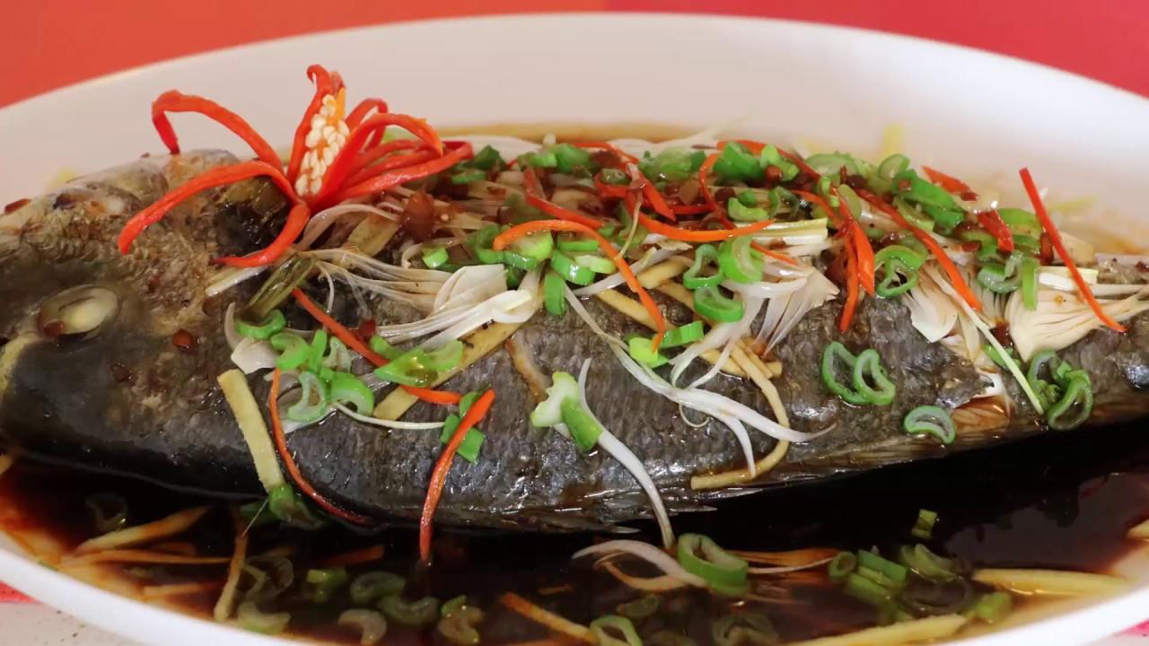 Kết quả hình ảnh cho cá trắm đen hấp xì dầu