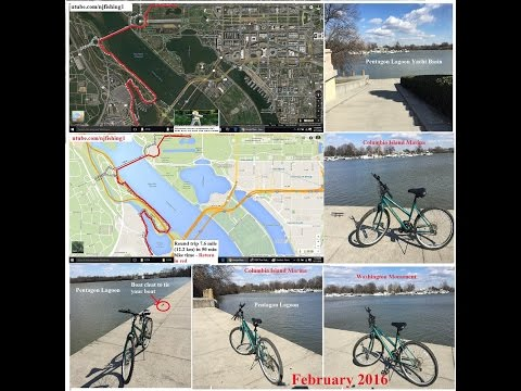 DC bike trip to Columbia Island Marina and Pentagon Lagoon