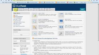 Inside Bluehost Cpanel