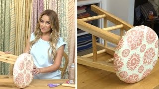 Lauren Conrad: Fabric Stool