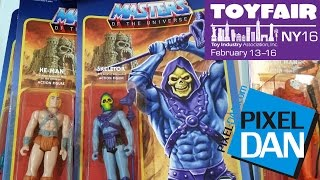 Super 7 ReAction and MUSCLE at Toy Fair 2016 - MOTU, Street Fighter, Mega Man, more!