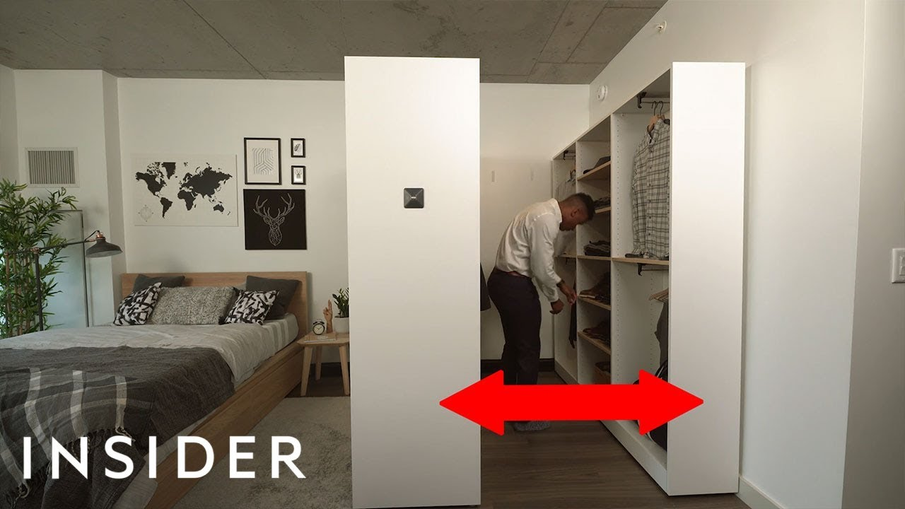 We Tried A Smart Expanding Walk In Closet For Small Spaces Youtube