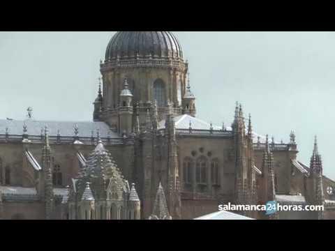 Salamanca amanece nevada