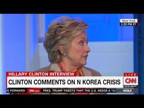 Hillary Clinton takes shot at Trump tweeting habits