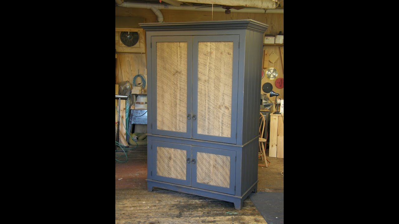 Charmant Armoire With Barn Wood Panel Doors (part 3/3)   YouTube