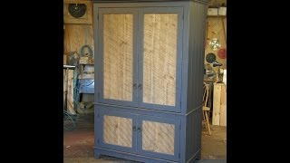 Armoire With Barn Wood Panel Doors (part 3/3)