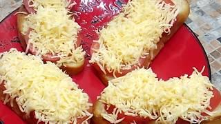 Быстрая закуска. Горячие бутерброды с помидорами и сыром