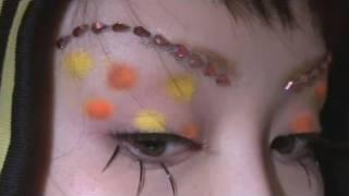 COSMETICS & MUSIC Decolation seal : DAISO Coloring eyebrow:CANMAKE coloring eyebrow 01 4 color eyecream:MITSUYOSHI clown color assout 2 Color ...