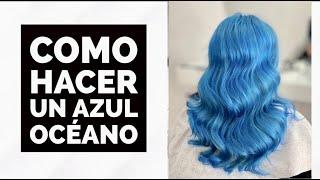 Como hacer un cabello Azul Océano