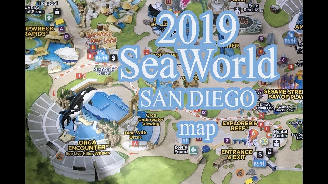 2019 SeaWorld San Diego park map