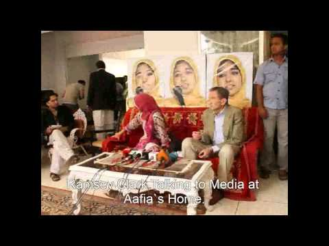 Ramsey Clark Exciting Welcome By aafia Movement at Aafia`s Home.mp4