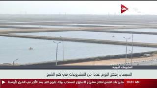 اليوم.. السيسي يفتتح عددا من المشروعات في كفر الشيخ