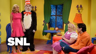When Linda's children (Aidy Bryant, Pete Davidson) imagine the Cat in the Hat into existence, it becomes clear that Linda and the Cat had a relationship at some ...